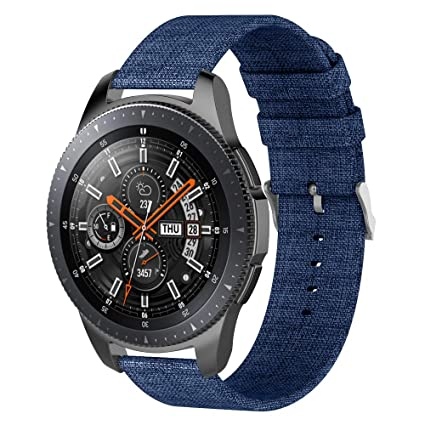 VODKE Compatible Samsung Galaxy Watch 46mm Bands & Gear S3 Frontier Bands,22mm Quick Release Premium Woven Fabric Quick Replacement Strap Wrist Band ...