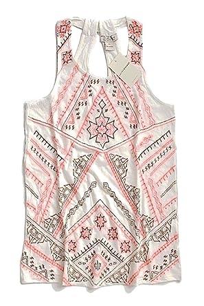 439fbf72 Lucky Brand - Women's - Natural Aztec embroidered Racerback Tank Top  (Medium)
