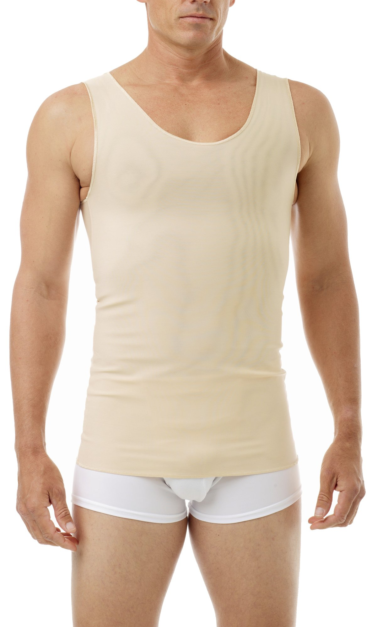 Underworks FTM Gynecomastia Ultimate Chest Binder Tank 997-3-Pack - Nude X-Small