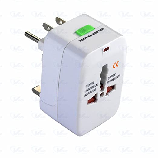 Outre All in One Universal International Travel AC Power Squar Charger with AU US UK EU Converter Plug Worldwide Adaptor