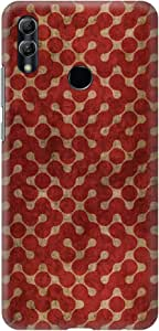 Stylizedd Huawei Honor 10 Lite Slim Snap Basic Case Cover Matte Finish - Connect The Dots (Red)