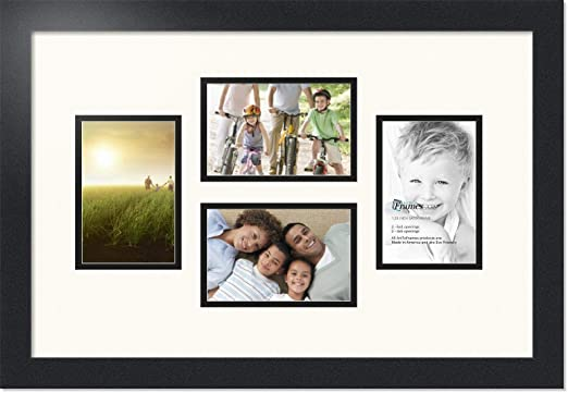 arttoframes collage mat picture photo frame 3 4x5 openings in satin black 32 arttoframes collage mat picture photo