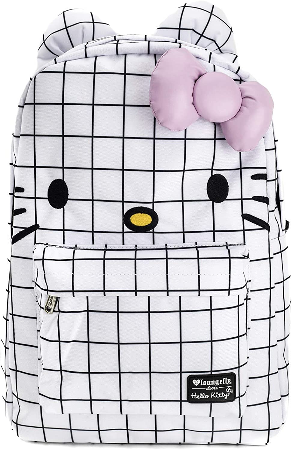 Loungefly x Hello Kitty Graph Lines Nylon Backpack