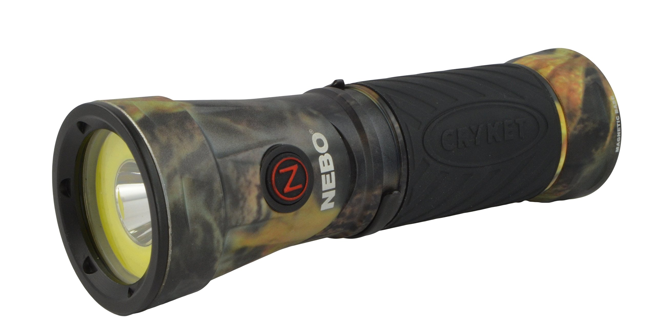 Nebo 6549 Cryket Camo 3-in-1 LED Flashlight/Work Light/Green LED with 8 Nebo AAA Batteries and Lumintrail Keychain Light by NEBO (Image #5)