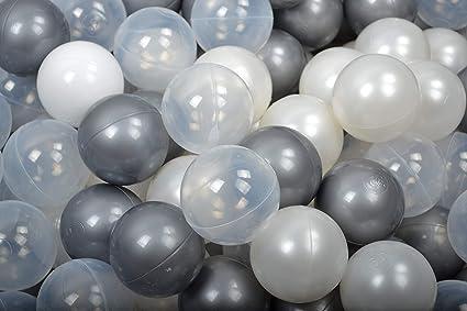 Bouncy Castle 500 balls Balls colours: grey Kids O 7cm Children Plastic Balls for Ball Pits play