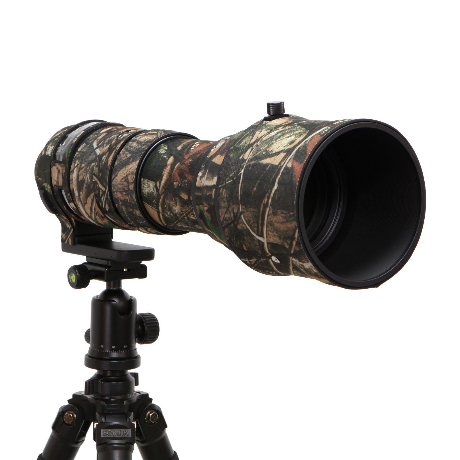 Mekingstudio Sigma 150-600mm Sport Rubber Camera Lens Cover Protective Cover Camo Rain Cover - Forest Green Camo by Mekingstudio
