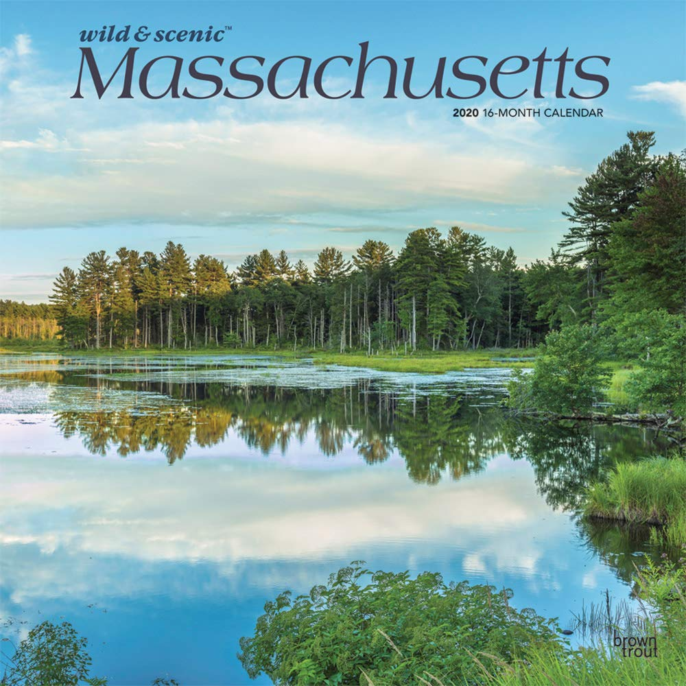 Massachusetts Wild Scenic 2020 12 X 12 Inch Monthly Square Wall