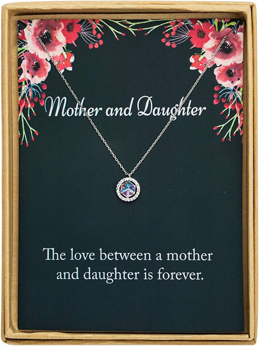 Mother Daughter Necklace Two Interlocking Infinity Double Circles Sterling Silver Necklace Birthday Gifts Christmas Gifts for Mom