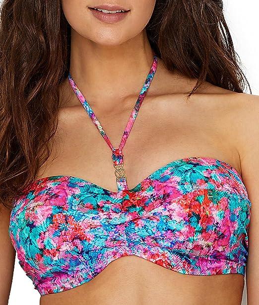 6f57d3a7e84fa Amazon.com: Mamba Twist Bandeau Bikini Top: Clothing