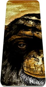 Yoga Mat, Gorilla Art Painting, Reversible Extra Thick Exercise & Fitness Mat for All Types of Yoga, Pilates & Floor Exercises