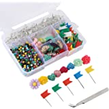 Push Pins Set of 680 Count Various Practical and Decorative Pushpins/Thumbtacks for Home or Office Organization, Colorful for Cork Board, Bulletin Board and Map Locationing