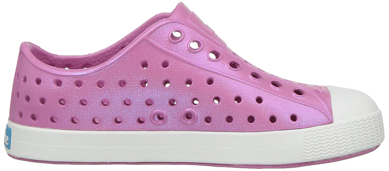 6 Medium US Toddler native Kids Jefferson Iridescent Child Shoe Malibu Pink//Shell White//Galaxy Iridescent
