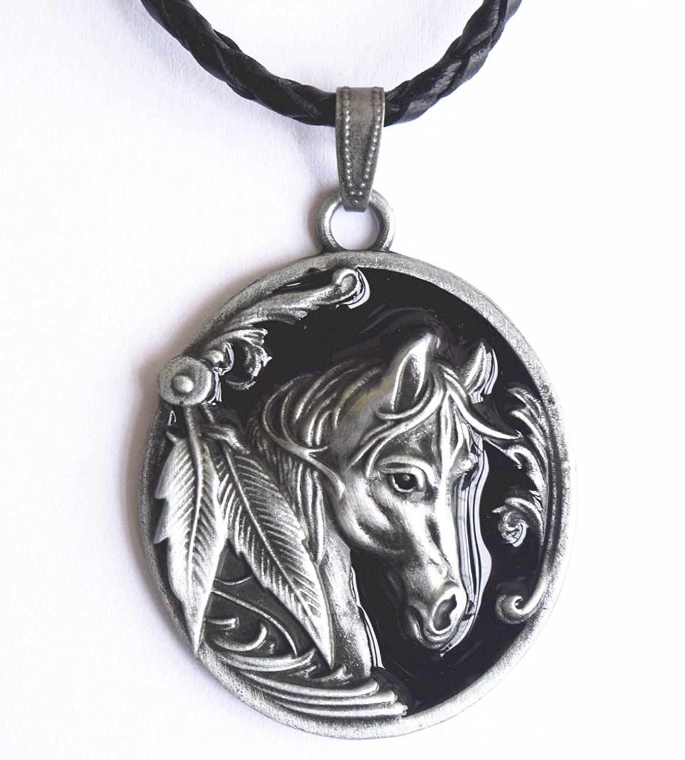 jewelry horse g wild necklace large horses jewellery and returns fashion bs gold collections delivery
