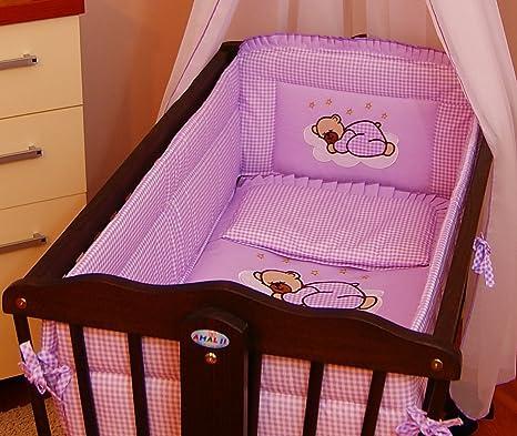 Blue 6 pcs bedding set //Bumper ALL ROUND 260cm//sheet//duvet// to fit baby swinging crib