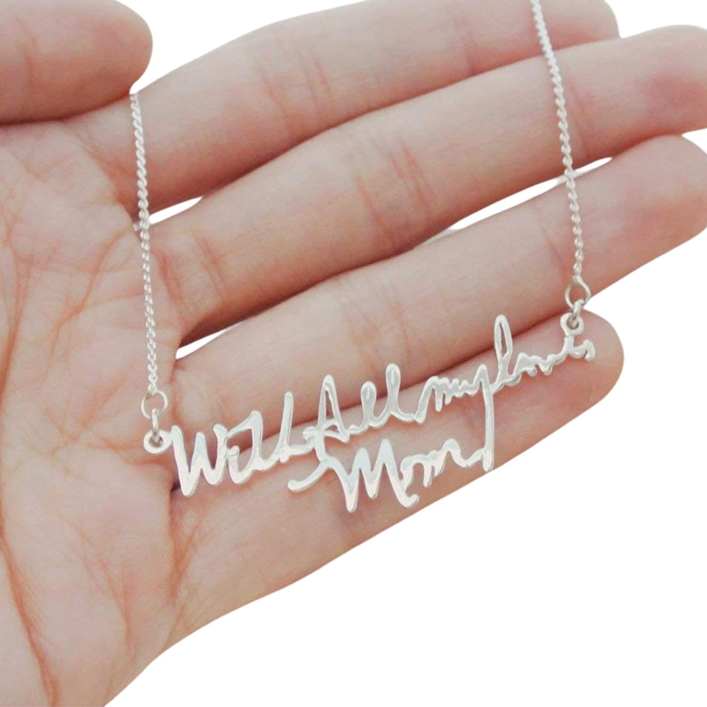 Personalized jewelry Memorial jewelry- Signature Handwritten necklace Handwriting jewelry Actual writing Gold handwriting necklace