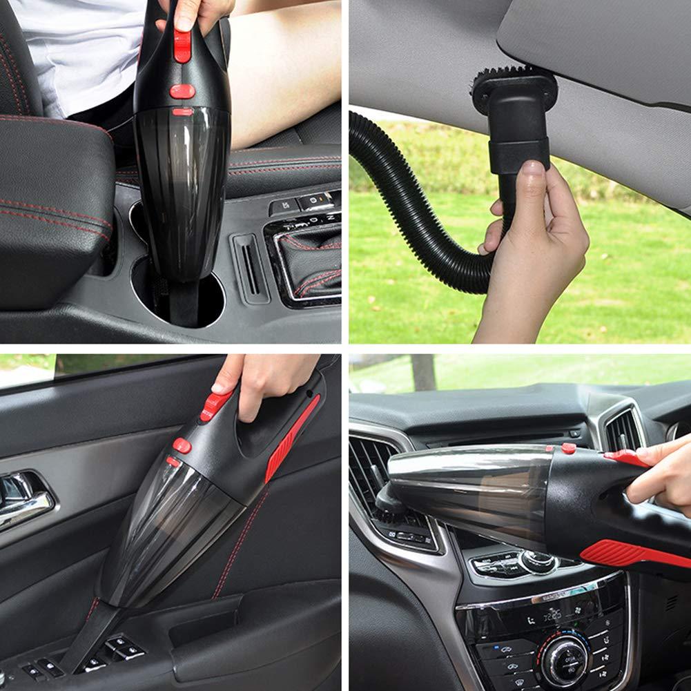 Ndier Auto Aspirapolvere Set DC12-Volt Wet//Dry Portatile Aspirapolvere Auto palmare con Luce a LED per lauto Nera