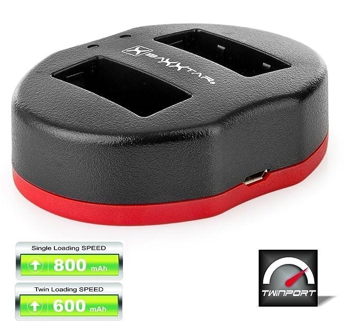 Baxxtar USB Dual Cargador Twin Port 1835 para la batería Olympus BLS-5 BLS-50 BLS-1