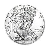 2020 1 oz Silver American Eagle BU In Coin Flip