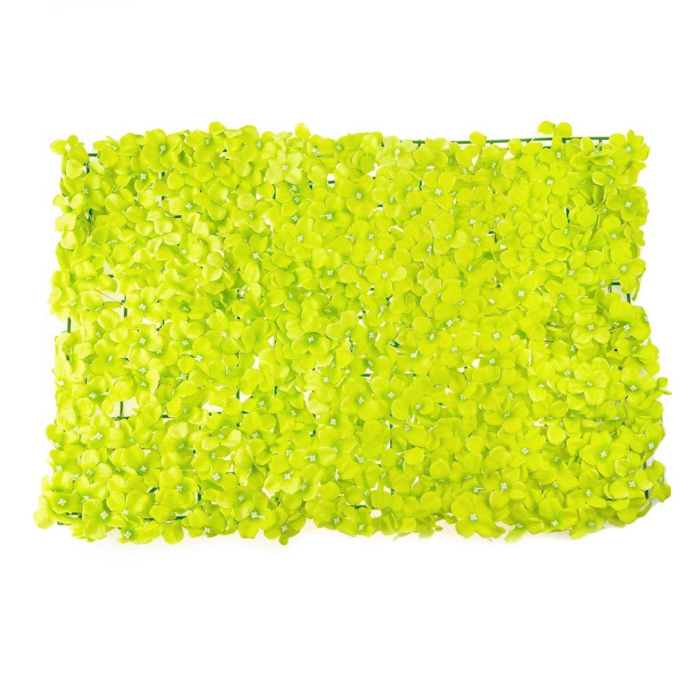 Homeford人工シルクアジサイBackdropマット、24インチ グリーン UF B07CQCLBQ9 グリーン