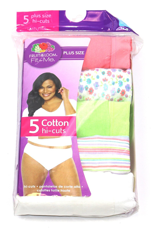 Fruit Of The Loom Women's Assorted Hi Cuts Briefs Underwear Panties (Stripe, 7)