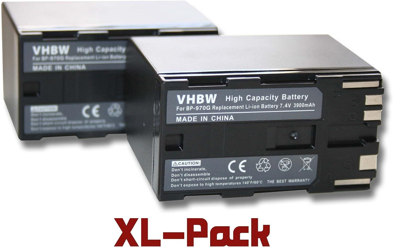 BATTERIA vhbw BP-970G Canon XH A1 XH G1 XF100 XF105 XF300 XL H1S HA H1S XH G1S
