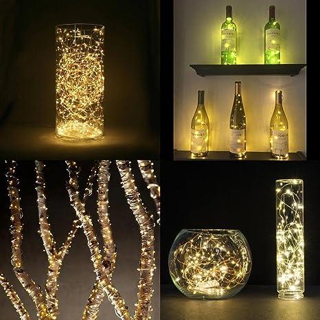 d7ecbadbe38 6 Pcs Luces Bombillas 20 LEDs 100cm 40 inch en Forma de Corcho de Botella de  ...
