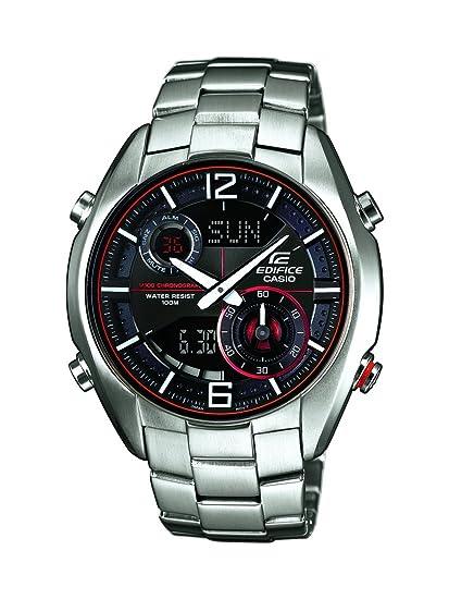 Casio ERA-100D-1A4VUEF - Reloj analógico y Digital de Cuarzo para Hombre con Correa de Acero Inoxidable, Color Plateado: Amazon.es: Relojes