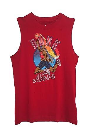 72b0998f96f6 Amazon.com  Nike Air Jordan Boys Jumpman Graphic Tank Top Shirt Bright  Crimson White  Clothing