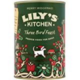 Lily's Kitchen Dog Food Three Bird Feast Christmas Dinner (Pack of 6)