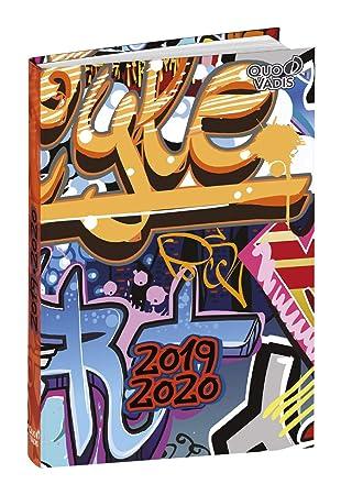 Agenda Escolar 1 Día/Página 2019-2020 Graffiti, 12x17cm, diseño Estilo