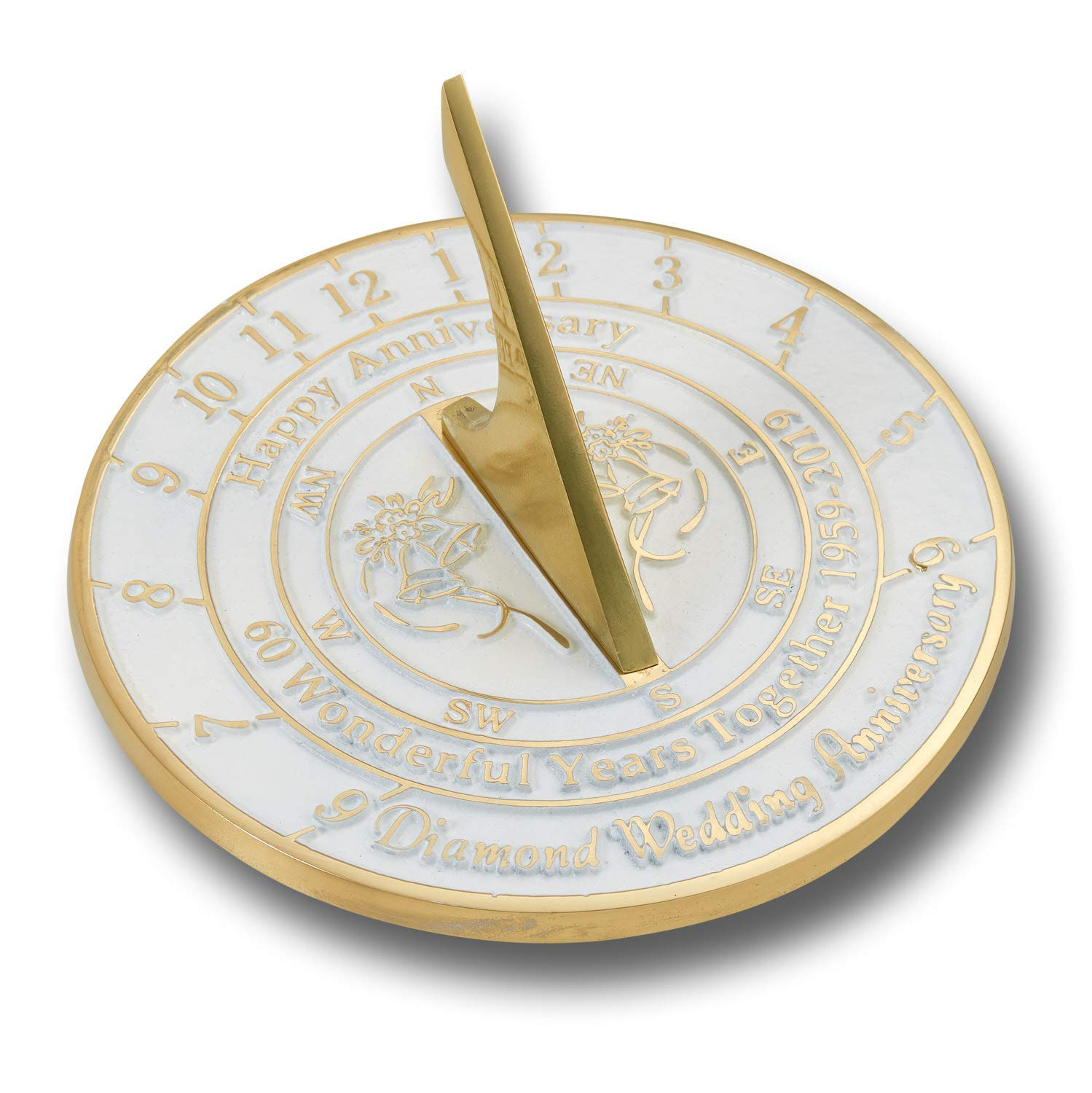ANTIQUECOLLECTION 60th Diamond Wedding Anniversary Sundial Gift