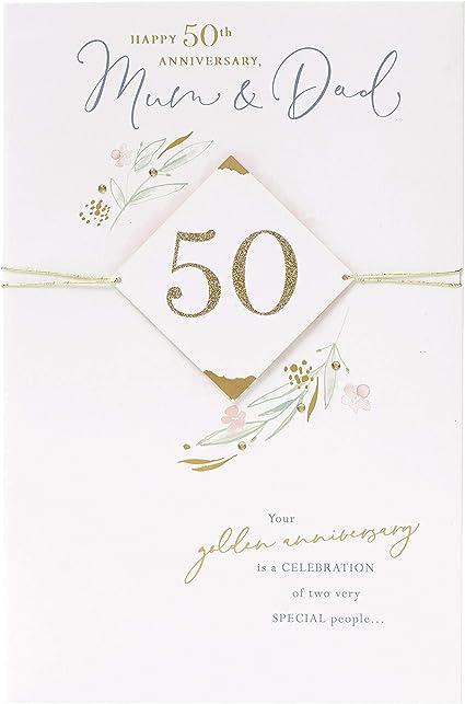 50 Anniversario Di Matrimonio Biglietti.Biglietto Di Auguri Per 50 Anniversario Di Mamma E Papa Per
