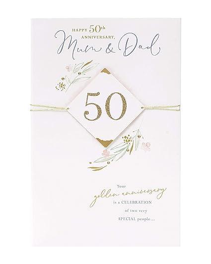 Tarjeta de felicitación de 50 aniversario para mamá y papá ...