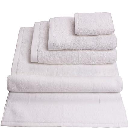Hierba Acqua toalla de baño (50 x 100 cm), color blanco