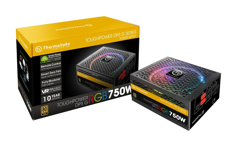 Thermaltake Toughpower DPS G RGB 750W Digital 80+ Gold Smart Zero 256-Color RGB Fan Fully Modular ATX 12V 2.31/EPS 12V 2.92 Power Supply 10 YR Warranty PS-TPG-0750DPCGUS-R by Thermaltake (Image #1)