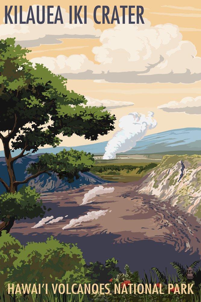 売れ筋商品 Kilauea Iki Crater, Hawaii Press Print Volcanoes National Park x (24x36 Giclee Gallery Print, Wall Decor Travel Poster) by Lantern Press B07B28144K 24 x 36 Signed Art Print 24 x 36 Signed Art Print, adorable basic:ca74d2c9 --- arianechie.dominiotemporario.com