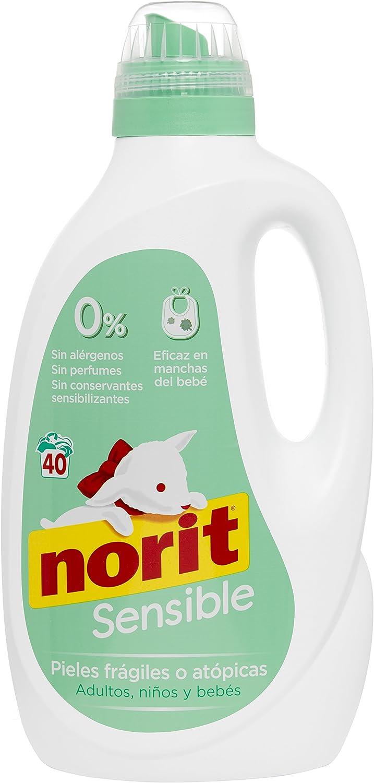 Norit - Detergente Líquido especial Pieles sensibles, 40 lavados, 2120 ml