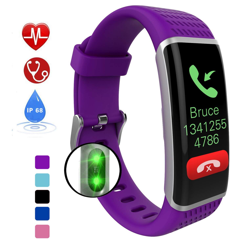 DUWIN Smartwatch,Wasserdicht Smart Watch,IP68 Uhr mit Pulsmesser Fitness Armbanduhr Sport Uhr Fitnessuhr mit Schrittzähler,Schlaf-Monitor,Setz-Alarm,Stoppuhr,SMS-, Anruf-Benachrichtigung Push/Kamera
