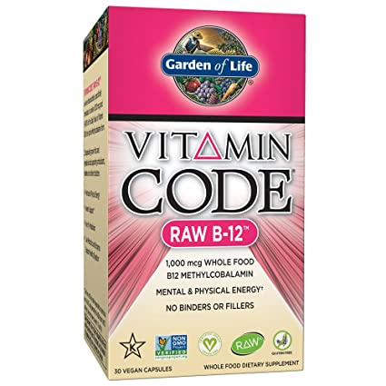 Jardín de vida – Vitamina B12 1000 mcg – Raw de código de vitamina B12 Whole