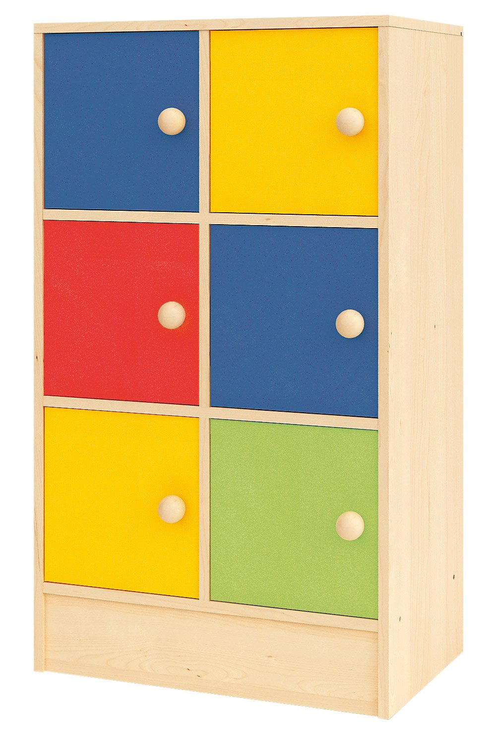 Creativity Rainbow Range - 6 Door Storage Cupboard CI NS 0469