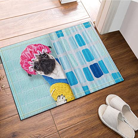 nymb with shower cap yellow duck bath rugs