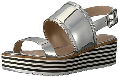 7e7dabf6255 Aldo Women's Jin Platform Sandal, Silver, 7. 5 B US: Buy Online at ...