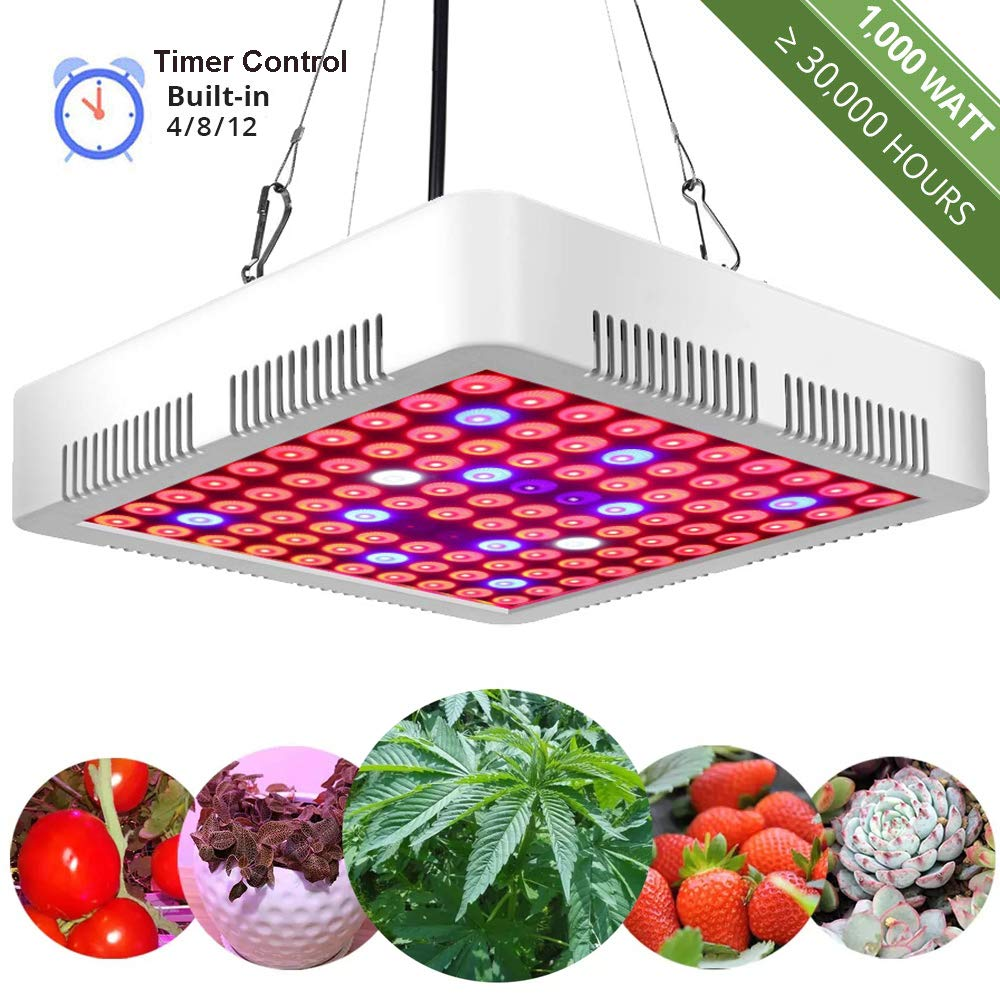 GreensIndoor LED Grow Light Full Spectrum,LED Plant Grow Lights UV,Indoor Plant Growing Light Bulb with Timer by GreensIndoor