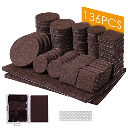 Furniture Pads 136 Pcs Felt Furniture Pads Brown Furniture Floor