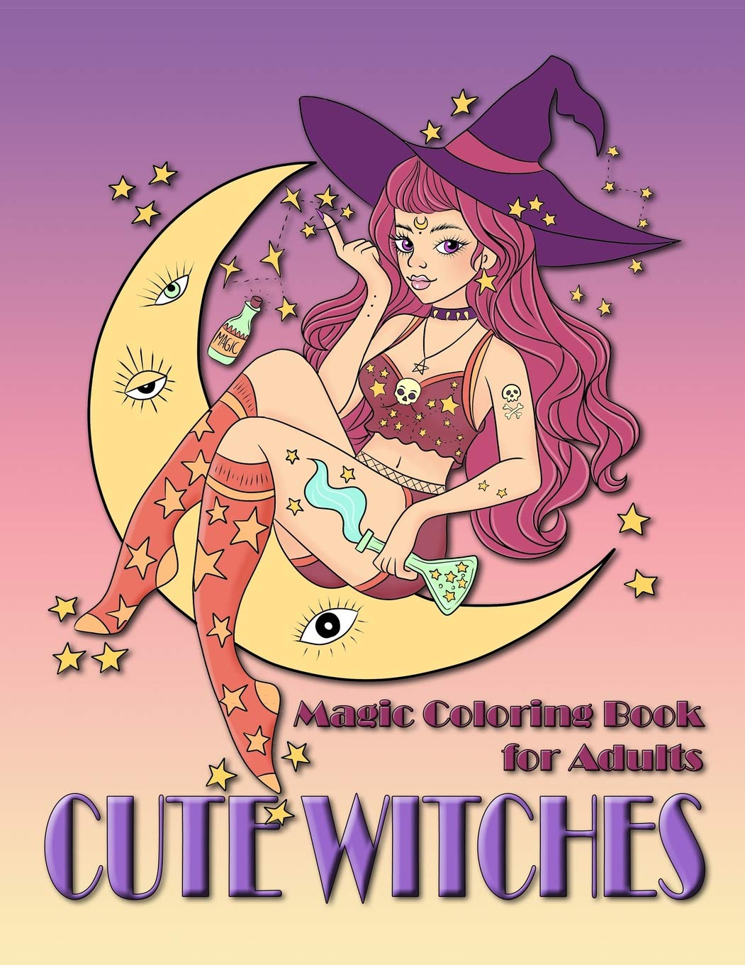 Amazon.com: Cute Witches: Magic Coloring Book for Adults ...