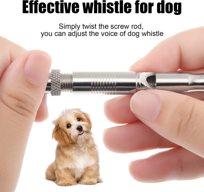 4 St/ück Kupfer Hunde Training Pfeifen Edelstahl Hunde Pfeife mit Schwarzem Lanyard Einstellbare Frequenz Ultraschall Hundetraining Werkzeuge