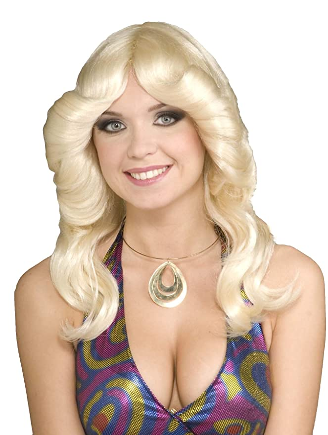 70s Headbands, Wigs, Hair Accessories Forum Novelties Womens 70s Disco Doll Costume Wig $13.55 AT vintagedancer.com