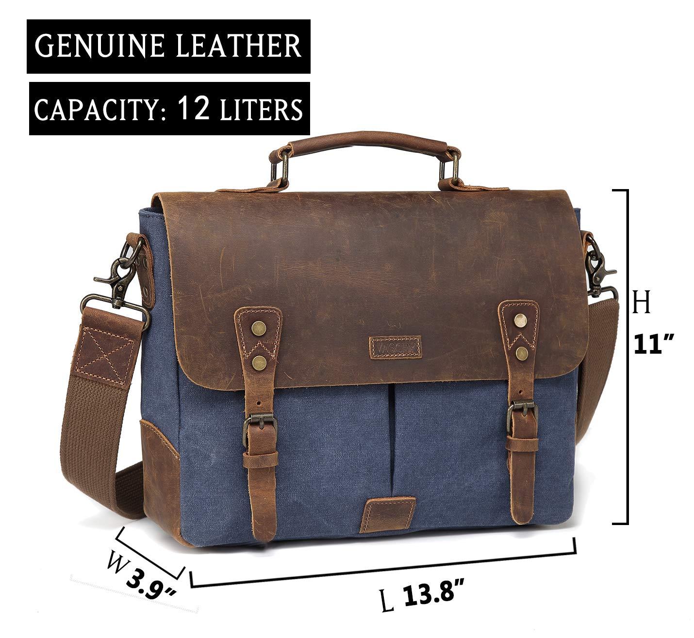 4dbfbf58f5 Vaschy Genuine Leather Messenger Bag