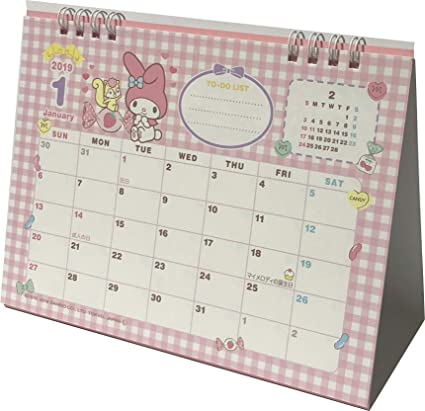 sanrio my melody desk ring japanese calendar 2019 year 12 month japan type b