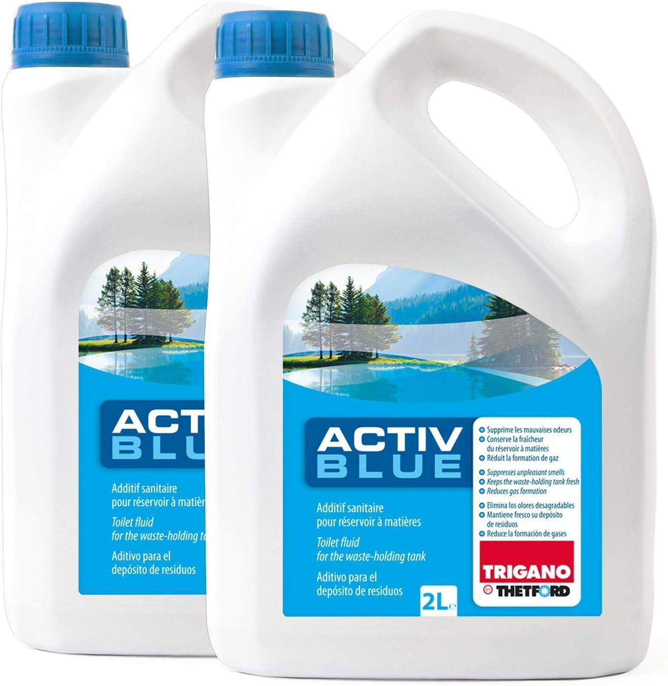 Thetford Activ Blue Toiletten Zusatz Für Den Abwasserbehälter 4 Ltr Auto